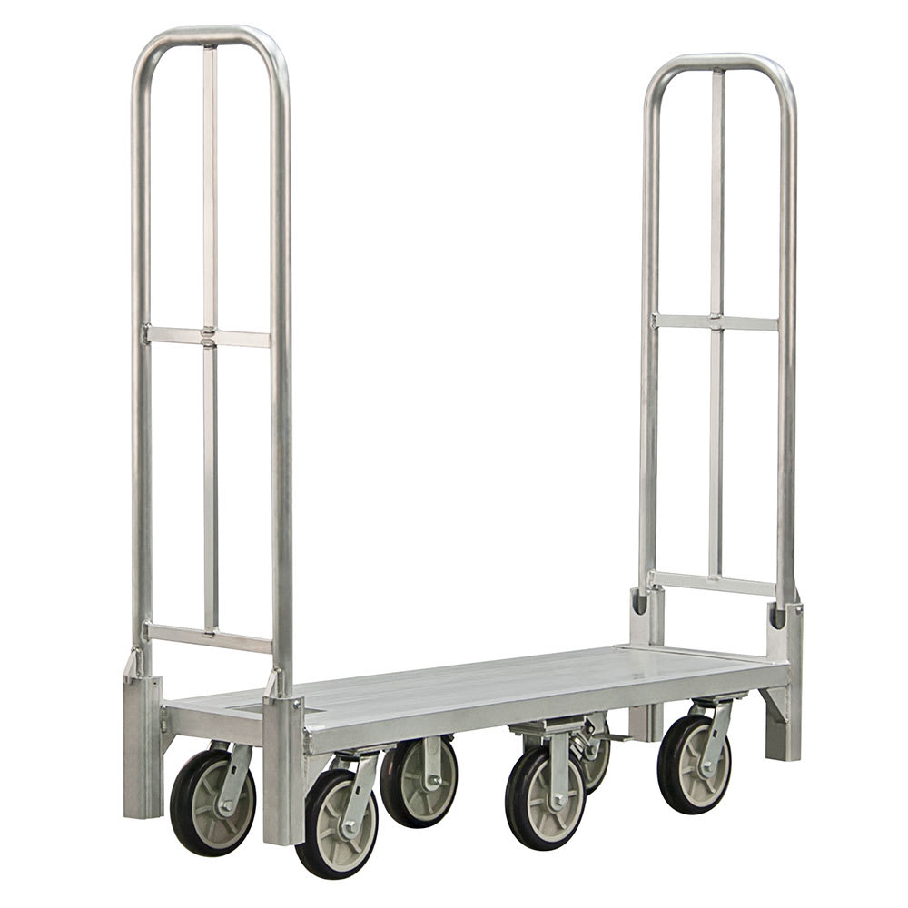 New Age BDT18568 1 Level Aluminum Utility Cart w/ 1200 lb Capacity, Flat Ledges