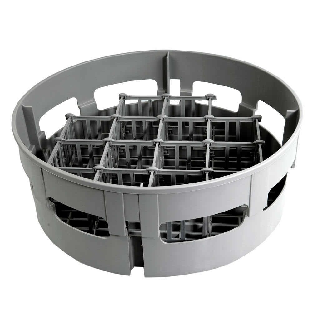 "Jackson 07320-100-17-01 17.5"" Round 12-Compartment Glass Rack for Model 10 - Plastic, Gray"
