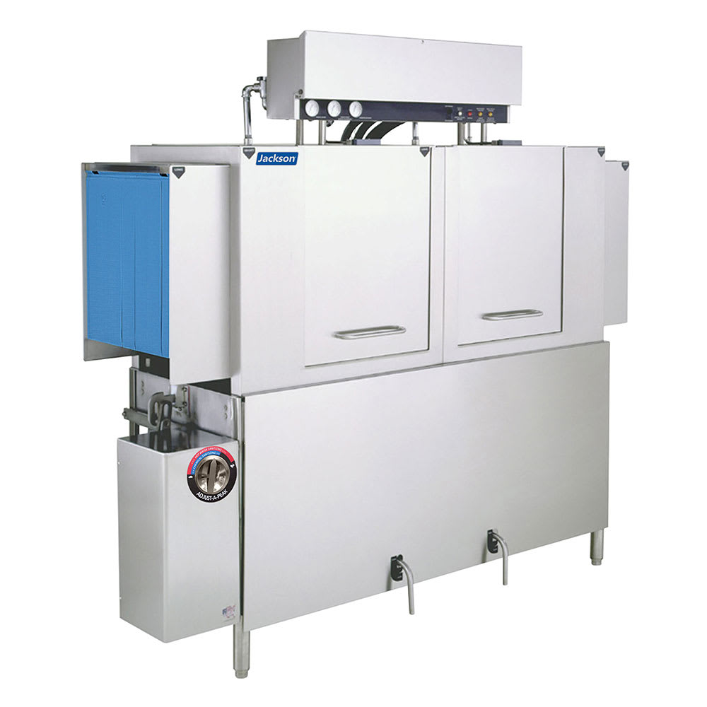 "Jackson AJ-64CE 80"" High Temp Conveyor Dishwasher w/ Booster Heater, 208v/1ph"