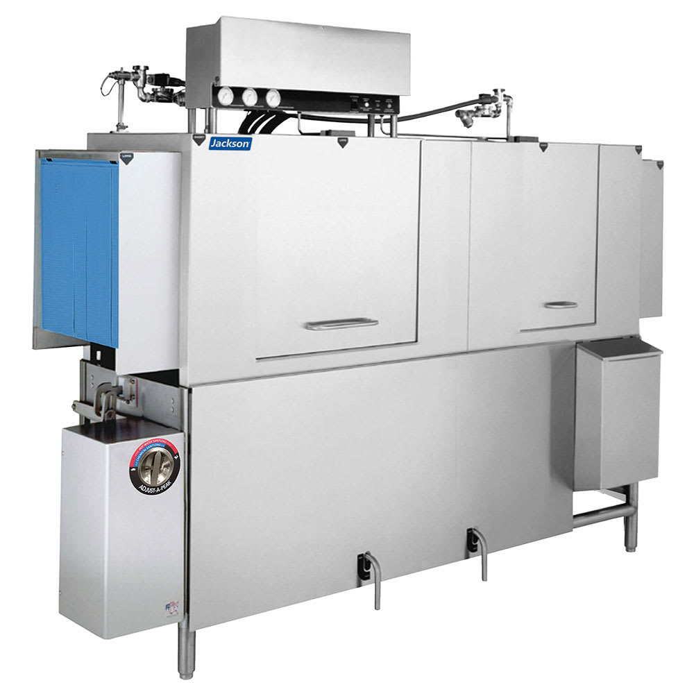 "Jackson AJ-80 96"" High Temp Conveyor Dishwasher w/ Booster Heater, 248 Racks/Hr Capacity"