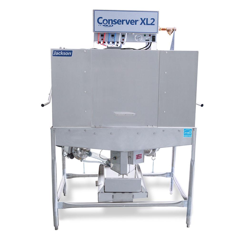 Jackson CONSERVERXL2 Low Temp Door Type Dishwasher w/ 74 Racks Hour, 115v