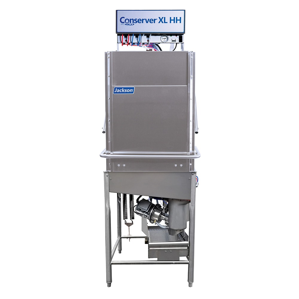 Jackson CONSERVER XL HH Low Temp Door Type Dishwasher w/ 39 Racks/hr Capacity, 115v