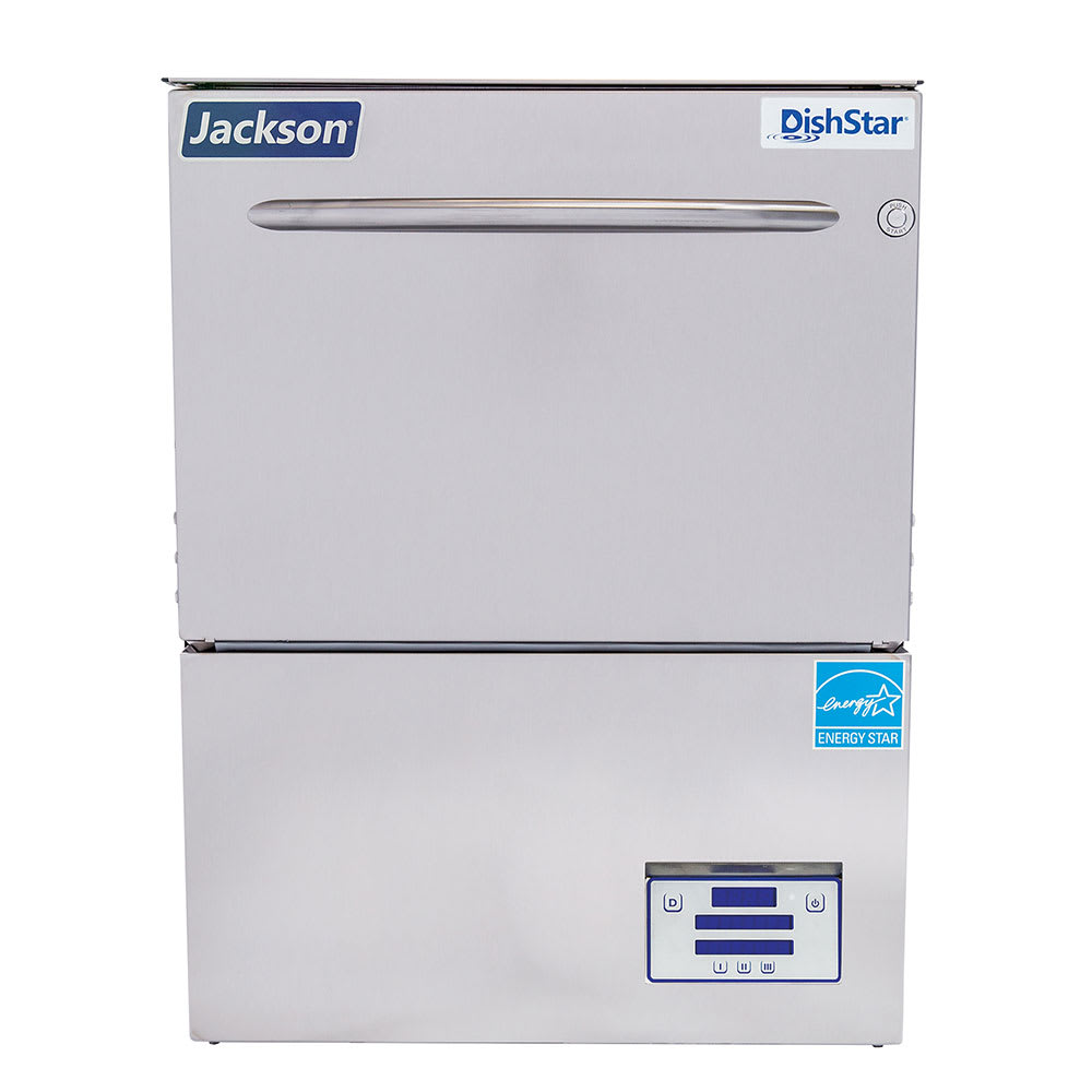 Jackson DISHSTAR HT-E High Temp Rack Undercounter Dishwasher w/ Built-In Booster & (27) Racks/hr, 208v/1ph