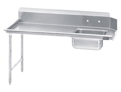 "Jackson DTS-S70-36L 36"" Straight Soiled Dishtable w/ Left side Installation & 20x20"" Sink"