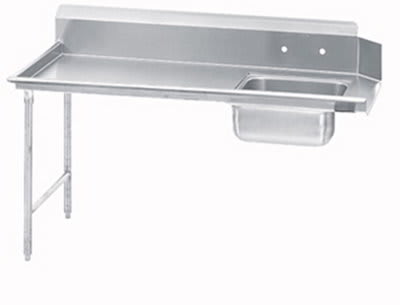 "Jackson DTSS7036R 36"" Straight Soiled Dishtable w/ Right side Installation & 20x20"" Sink"