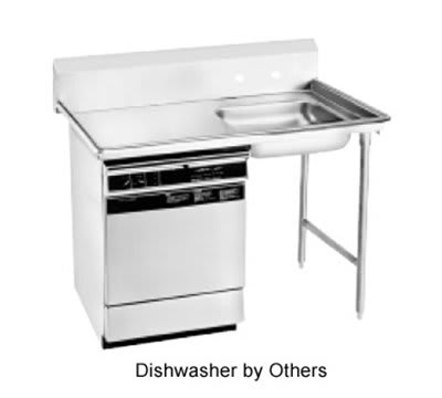 "Jackson DTU-U60-48R 48"" Straight Undercounter Dishtable, Right Side Installation"