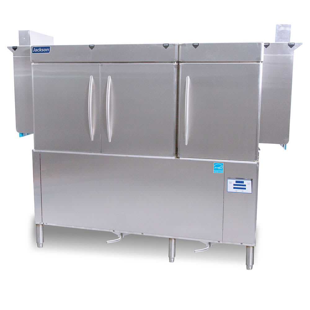 "Jackson RACKSTAR66 66"" High Temp Conveyor Dishwasher w/ Booster Heater, 223-Racks/Hr Capacity"