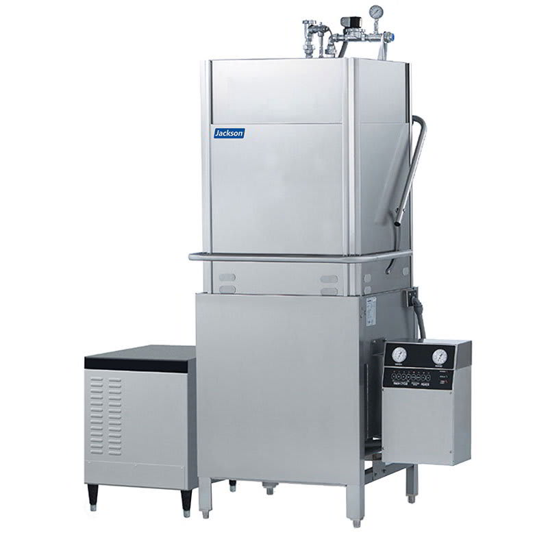 Jackson TEMPSTARHHGPX High Temperature Door Type Dishwasher 53-Racks/Hour & High Hood Stainless 208v/1ph