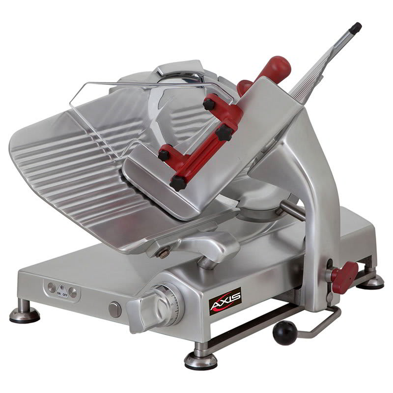 """Axis AX-S13G 13"""" Meat Slicer for Sausage, Meat & Cheese, Gravity Feed Gear Driven, .5 hp"""