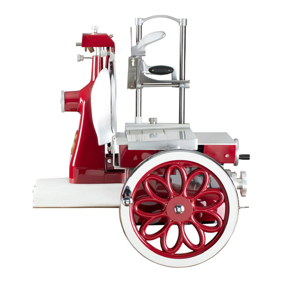 "Axis AX-VOL12 Manual Flywheel Slicer w/ 12"" Knife - Steel, Red"