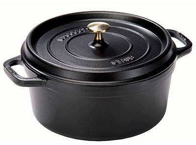 Staub 1101625 Round Cocotte w/ 1.5-qt Capacity & Enamel Coated Cast Iron, Black Matte