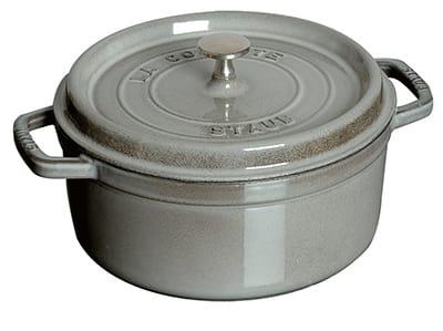 Staub 1102218 Round Cocotte w/ 2.75-qt Capacity & Enamel Coated Cast Iron, Graphite Grey
