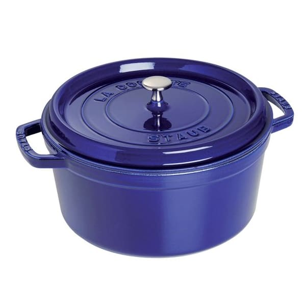 Staub 1102291 Round Cocotte w/ 2.75-qt Capacity & Enamel Coated Cast Iron, Dark Blue