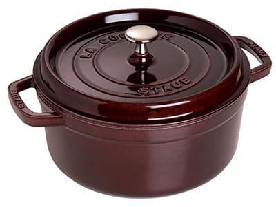 Staub 1102407 Round La Cocotte w/ 4-qt Capacity & Enamel Coated Cast Iron, Aubergine