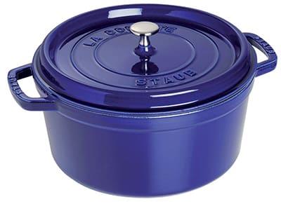 Staub 1102691 Round La Cocotte w/ 5-qt Capacity & Enamel Coated Cast Iron, Dark Blue
