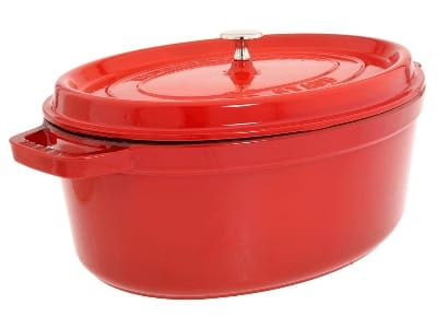 Staub 1103706 Oval Cocotte w. 8.5-qt Capacity & Enamel Coated Cast Iron, Cherry