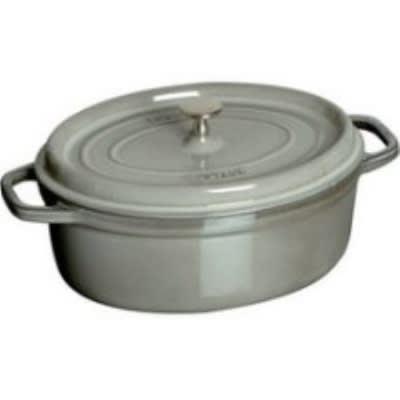 Staub 1103718 Oval Cocotte w. 8.5-qt Capacity & Enamel Coated Cast Iron, Graphite Grey