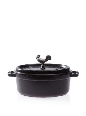 Staub 1122925 Coq Au Vin Cocotte w/ 4.25-qt Capacity, Black