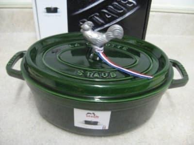 Staub 1122985 Coq Au Vin Cocotte w/ 4.25-qt Capacity, Basil