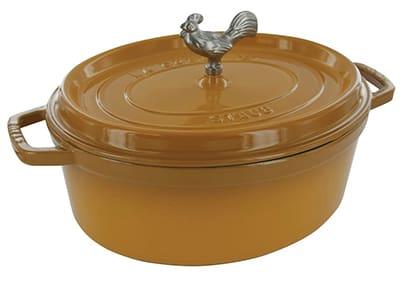 Staub 1123112 Coq Au Vin Pot w/ 5.75-qt Capacity & Enamel Coated Cast Iron, Saffron