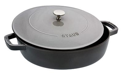 Staub 1162818 Saute Pan Braiser w/ 4-qt Capacity, Graphite Grey