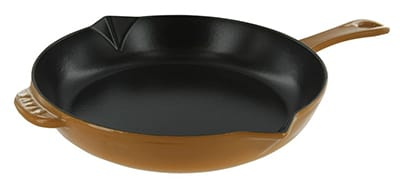 "Staub 1222612 10"" Fry Pan w/ Enamel Coated Cast Iron, Saffron"