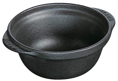 Staub 1243018 Enameled Cast Iron Classic Bowl, 1/4 qt, Graphite
