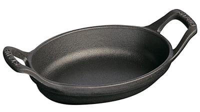 Staub 1301323 Mini Oval Dish w/ 8-oz Capacity & Enamel Coated Cast Iron, Black Matte