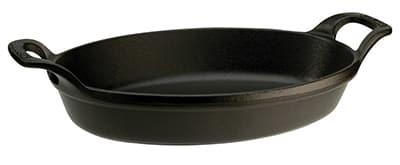Staub 1302923 Stackable Oval Dish w/ 1.5-qt Capacity & Enamel Coated Cast Iron, Black Matte