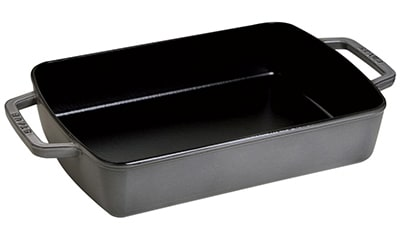"Staub 1303018 8x12"" Small Baker w/ 3.25-qt Capacity & Enamel Coated Cast Iron, Graphite"
