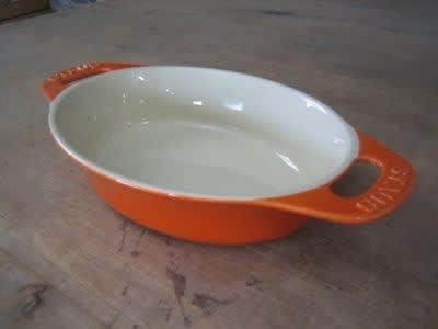 Staub 1852602 Ceramic Oval Dish, 13 in, 3.25 qt, White