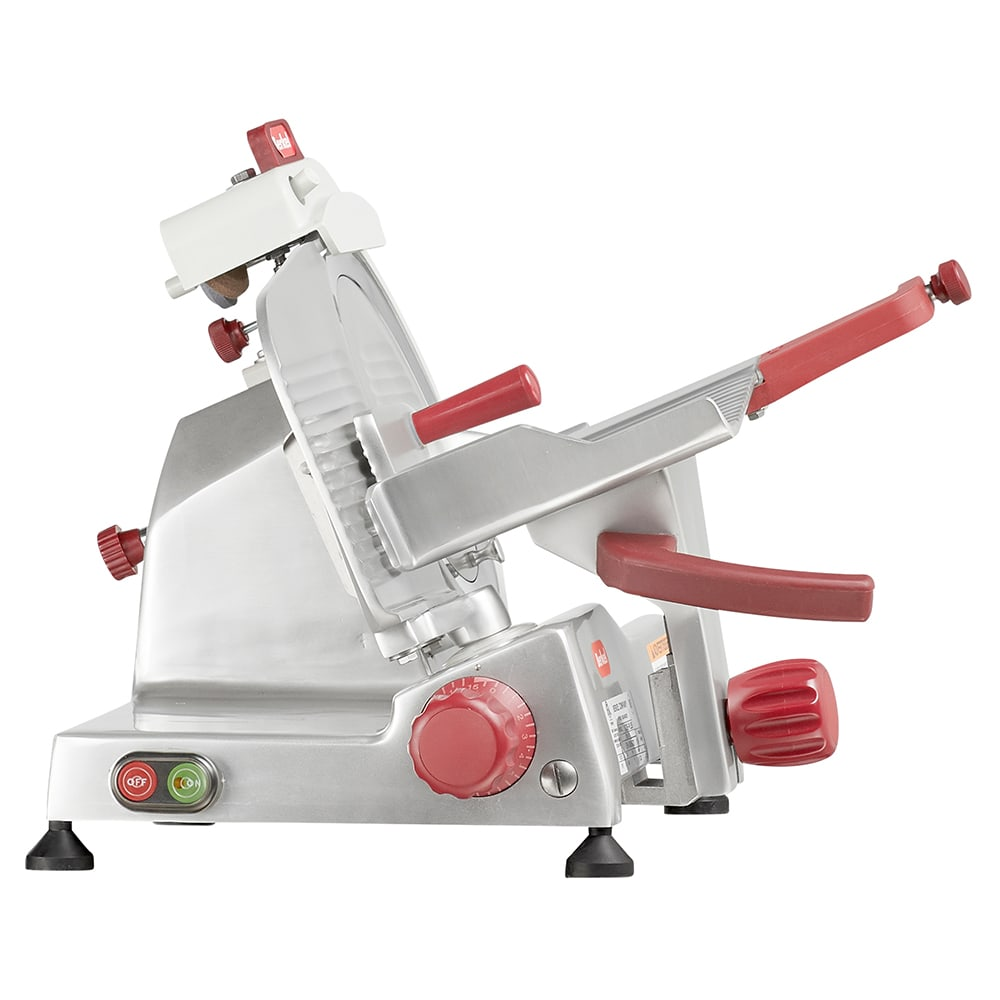 "Berkel 823E-PLUS 9"" Round Manual Slicer w/ Angled Gravity Feed & Knife Guard, Sharpener, 115v"