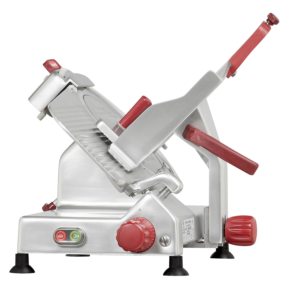 "Berkel 825A-PLUS 10"" Round Manual Slicer w/ Angled Gravity Feed & Knife Guard, Sharpener, 115v"