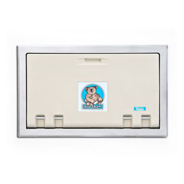 Koala Kare KB100-00ST Horizontal Recess-Mounted Changing Station - Polyethylene, Cream