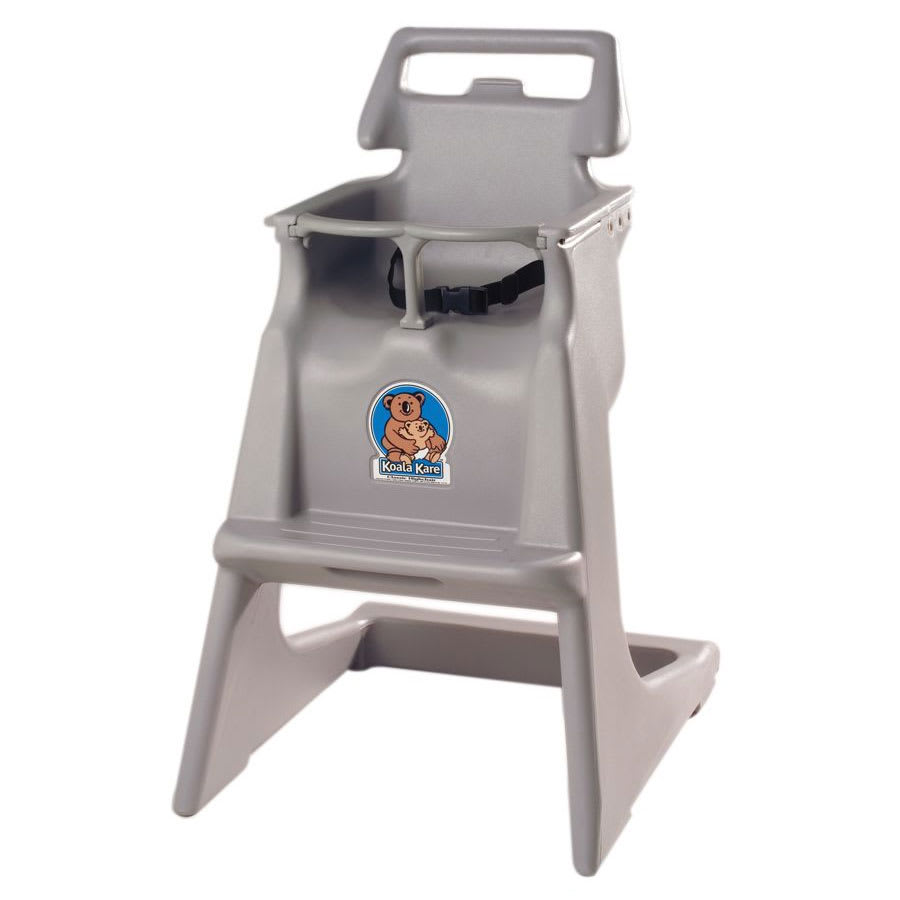 "Koala Kare KB103-01 33.75"" Stackable High Chair w/ Waist Strap - Polyethylene, Gray"