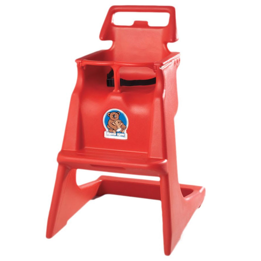 "Koala Kare KB103-03 33.75"" Stackable High Chair w/ Waist Strap - Polyethylene, Red"
