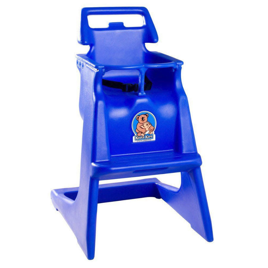 "Koala Kare KB103-04 33.75"" Stackable High Chair w/ Waist Strap - Polyethylene, Blue"