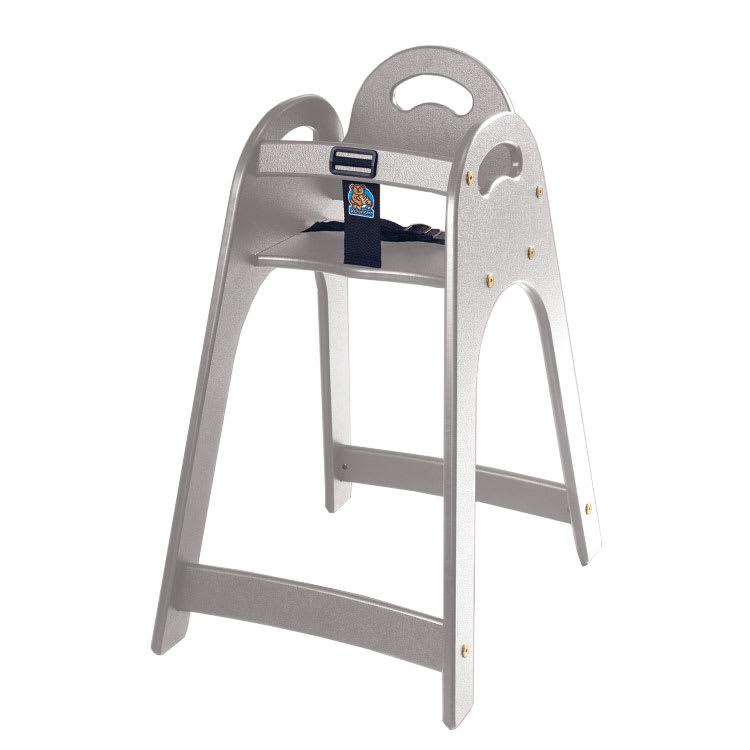 "Koala Kare KB105-01 29.5"" Stackable High Chair w/ Waist Strap - Polyethylene, Gray"