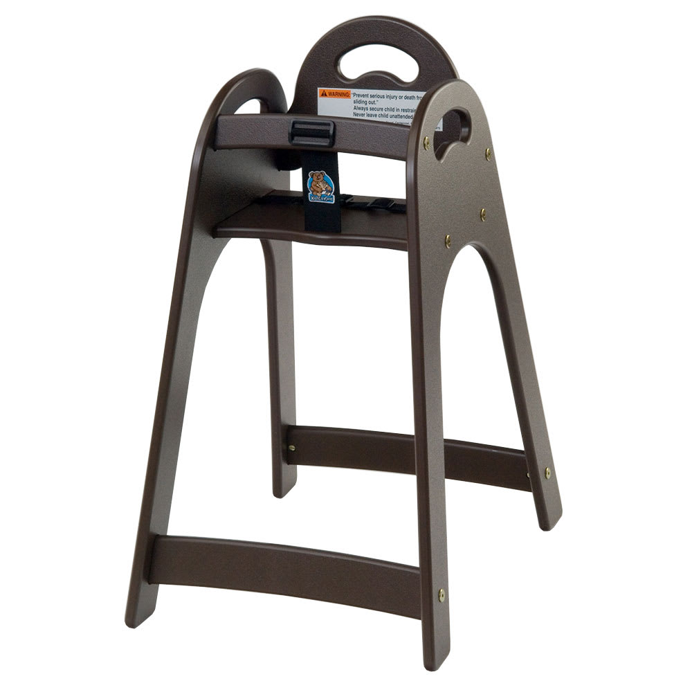 "Koala Kare KB105-09 29.5"" Stackable High Chair w/ Waist Strap - Polyethylene, Brown"