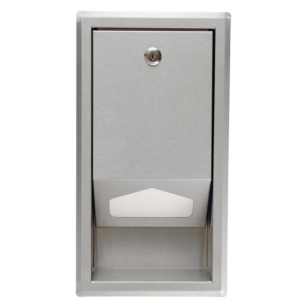 Koala Kare KB134-SSLD Recess-Mounted Sanitary Liner Dispenser w/ 100 Liner Capacity, Stainless Steel
