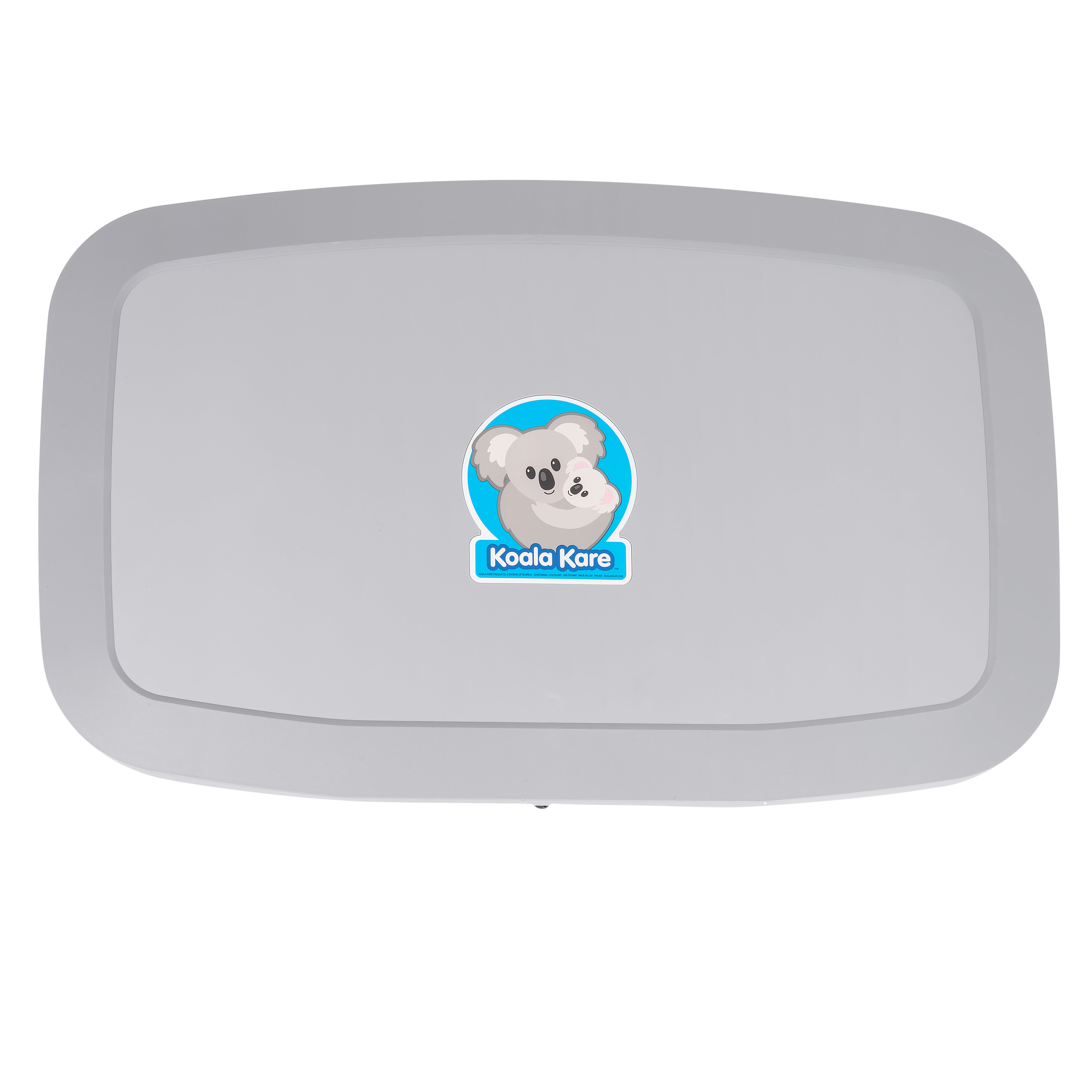 Koala Kare KB200-01 Horizontal Wall-Mounted Changing Station - Polypropylene, Gray