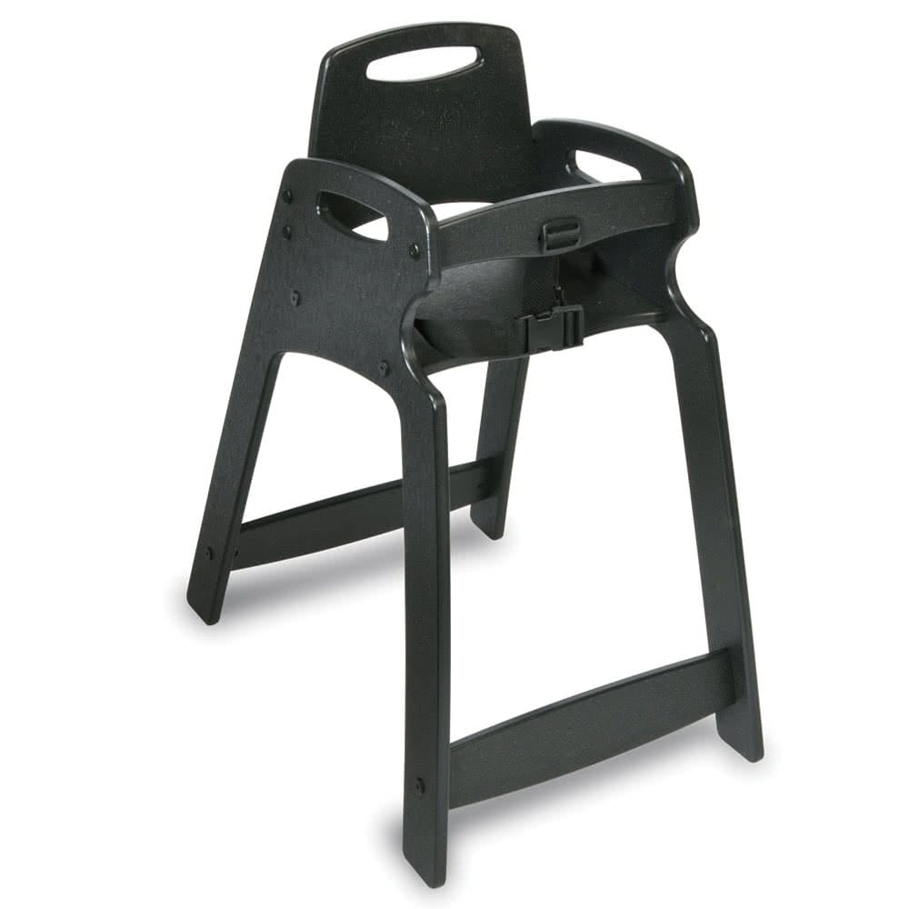 "Koala Kare KB833-02 29.5"" Stackable High Chair w/ Waist Strap - Plastic, Black"