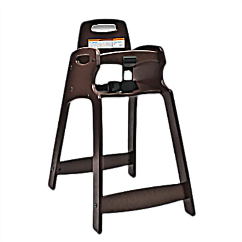 "Koala Kare KB833-09 29.5"" Stackable High Chair w/ Waist Strap - Plastic, Dark Brown"