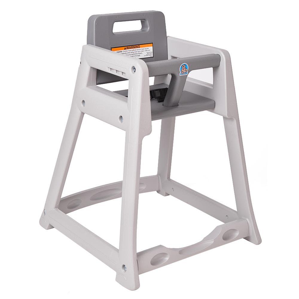 "Koala Kare KB850-01-KD 29.38"" Stackable High Chair w/ Waist Strap - Plastic, Gray"