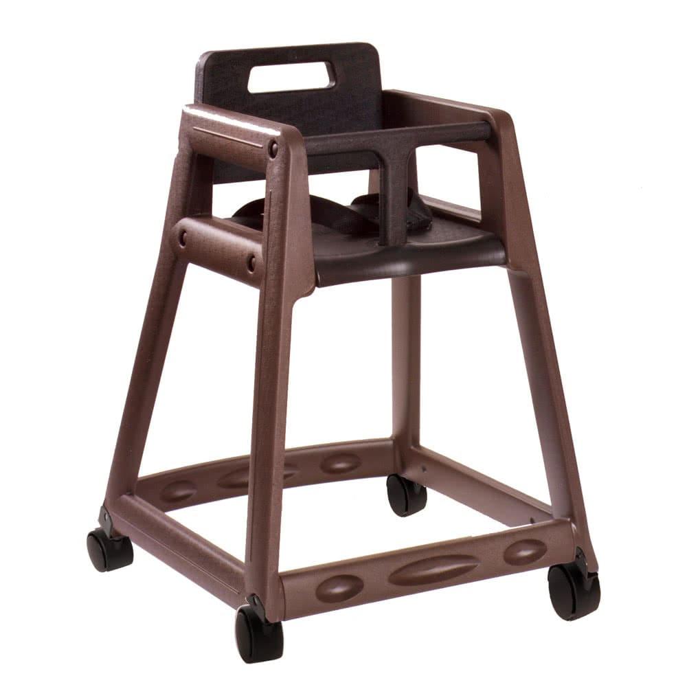 "Koala Kare KB850-09W 29.38"" Stackable High Chair w/ Waist Strap - Plastic, Brown"