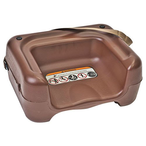 Koala Kare KB855-09S Dual-Height Booster Seat w/ Safety Strap - Plastic, Brown