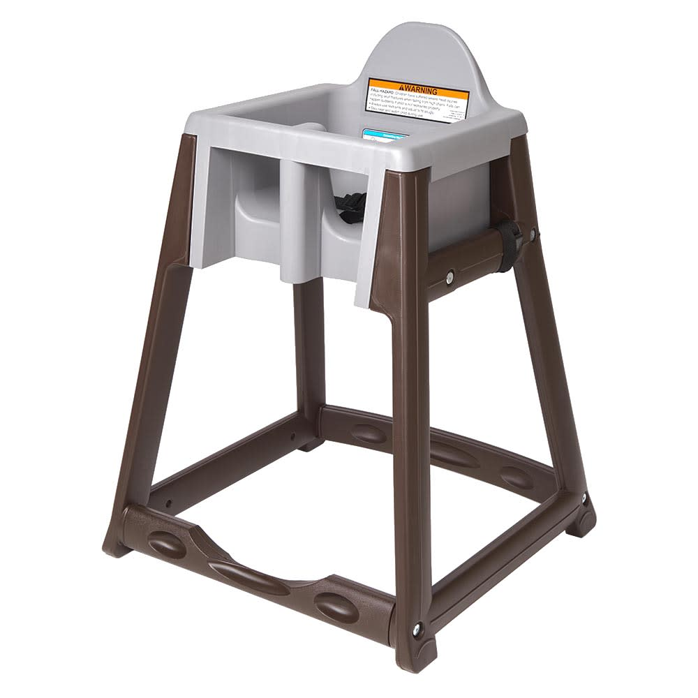 "Koala Kare KB866-01 27"" High Chair/Infant Seat Cradle w/ Waist Strap - Plastic, Brown/Dark Gray"