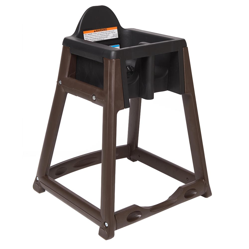 "Koala Kare KB866-02 27"" High Chair/Infant Seat Cradle w/ Waist Strap - Plastic, Brown/Black"