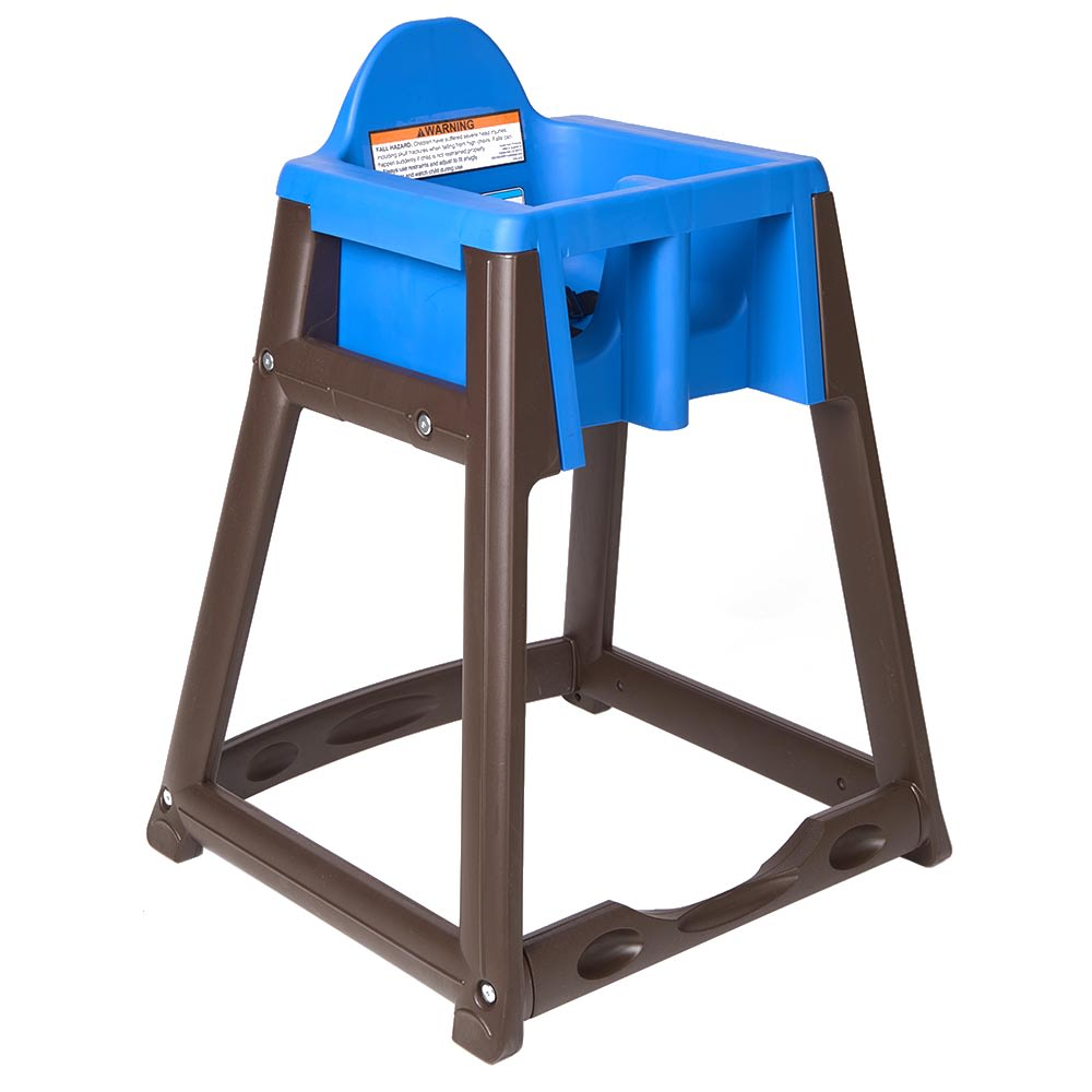 "Koala Kare KB866-04 27"" High Chair/Infant Seat Cradle w/ Waist Strap - Plastic, Brown/Blue"
