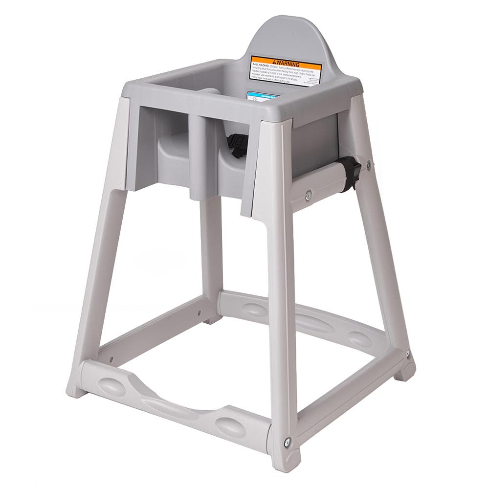 "Koala Kare KB877-01 27"" High Chair/Infant Seat Cradle w/ Waist Strap - Plastic, Gray"